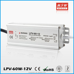 IP67 waterproof constant voltage 60w led driver with Ce approved