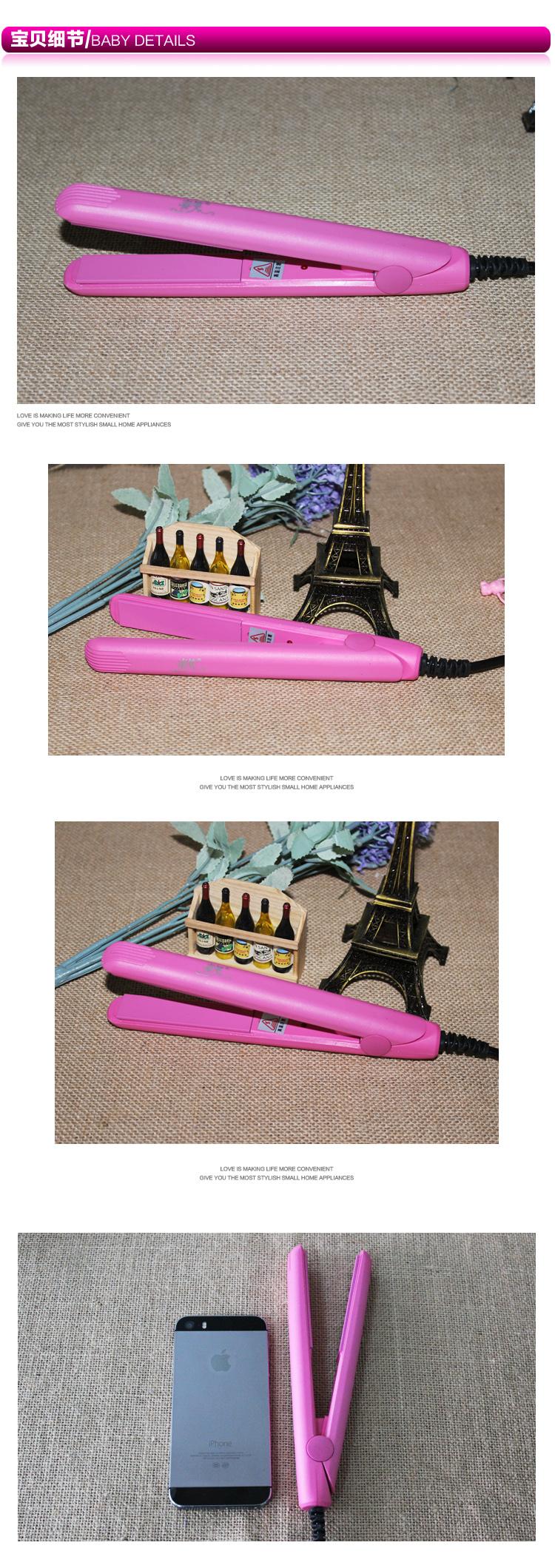 выпрямление утюги анион розовый мини-волосы выпрямитель керамическая плита двоевластие шину для выпрямления волос ролики
