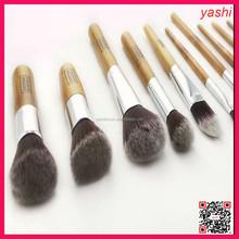 YASHI 10pcs Kabuki Style Professional Make up Brush Set Foundation Blusher Face Powder
