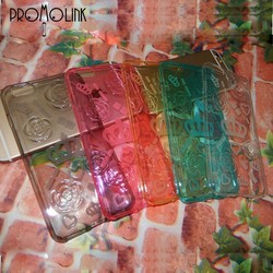 colorful silicone transparent phone case case for iphone 6