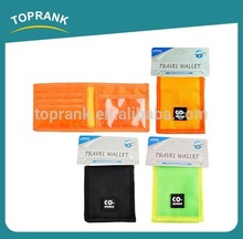 Brand new korea style poly wallet credit card wallet travel wallet & passport holder made in China