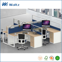 Hot sale office furniture glass fabric screen office desk partition desk table