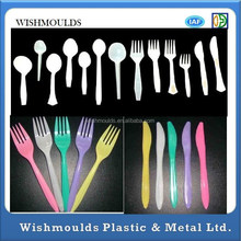 disposable dishware scoop forks plastic cups plates Plastic Injection Mould make plastic products made by your design