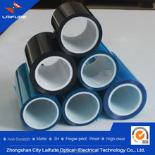 3 layer pet film silicon glue oca rewinding roll material screen protective film for cell phone screen protection