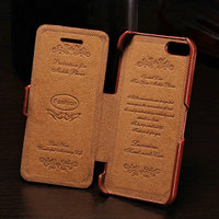 Promotional mobile phone flip engraving PU leather case for Iphone 5 5S smartphone