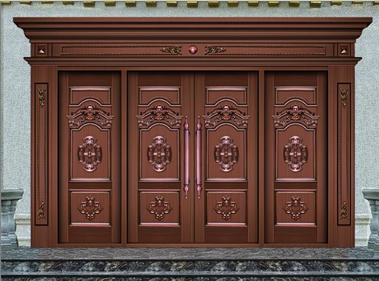 Cuivre armroed avant porte indien maison porte principale conceptions portes - Porte principale maison ...