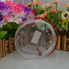 High quality clear circular pvc cosmetic drawstring Bag With zipper
