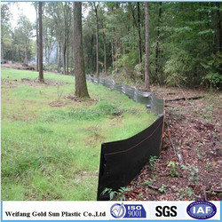High quality black plastic pp woven silt fencing fabric silt soil in China