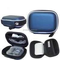 Best Price Blue Hard Case Earphone Case Storage For Earbud In Ear Earphone Headphone Secure Digital Memory Card USB Drive