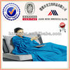2015 Hot Women Ultra Soft 100% Polyester Solid Coral Fleece Snuggie Blanket