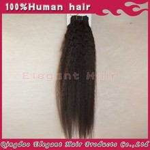 Wholesale kinky straight weave virgin remy hair coarse yaki