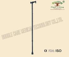Durable height adjustable aluminum crutch