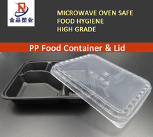 PP black tray Plastic fast food container