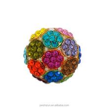 New products 2015 make jewelry fashion gold jewelry shamballa colorful pave diamond rare gemstone sex ring