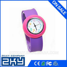 custom design cheap promotion product silicone slap watch