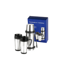 Promotion Gift sets Stainless Steel Vacuum Flask and 2 pieces coffee cups