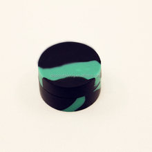 Most popular Customized adorable shiny colors Silicone Jars dab wax container, butane hash oil silicone container