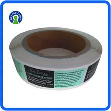 Eco friendly Roll Packaging Customised Printing Self Adheisve Paper Labels
