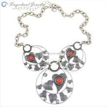 2015 Elegant Cheapest New Fashion Natural Jewelry Charm Handmade Necklace With Heart That Opens