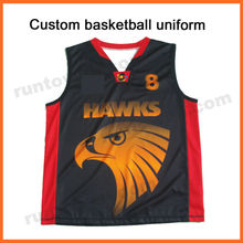 Runtowell basketball jersey black and red / basketball jersey dresses / toddlers basketball jerseys