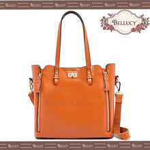 BELLUCY leopard genuine leather tote bag