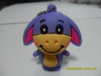 with customized logo pvc material dog model 4gb usb pen drive sticks
