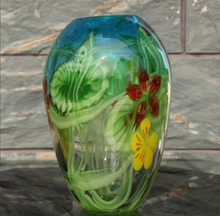handblown colored painting glass vases with high technic and quality