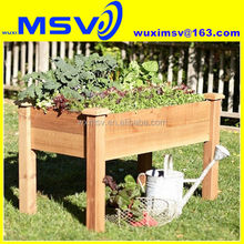 DIY elevated planter box plans instruction