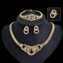 African Jewelry Set Artificial Kundan Indian Bridal Jewellery Sets Pakistani 18k Gold Plated Jewelry Set