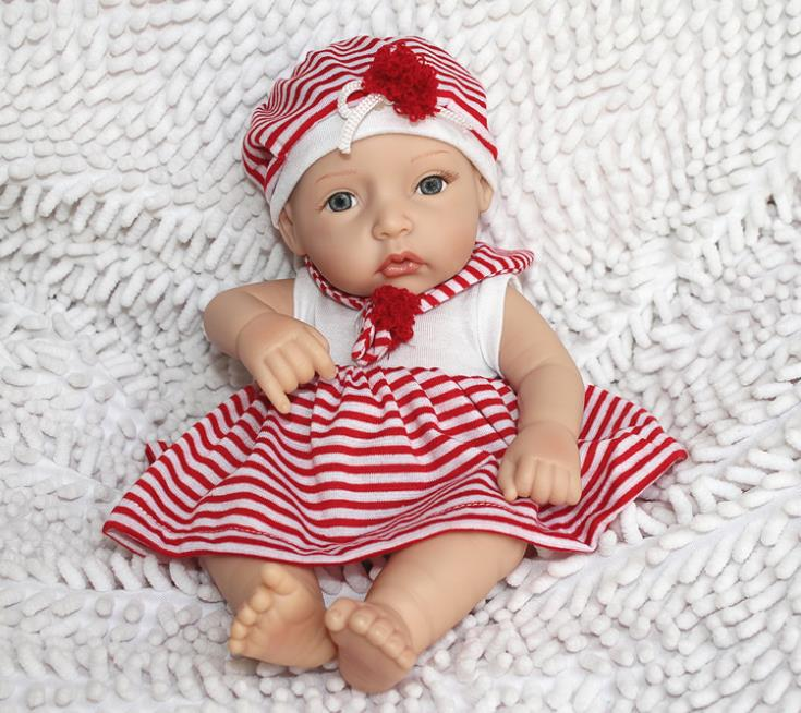 """Realistic and Lifelike 12"""" full Silicon vinyl small baby doll ..."""
