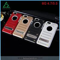 Luxury case for iphone 6 mesh metal stand aluminum case