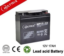 modern accessory-loaded vehicles 12v 17ah electric battery
