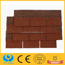 3 tab colored asphalt shingle