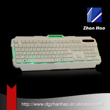 CE, ROHS Certificate 104 keys Green led backlight backlit keyboard