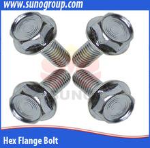 perno de acero inoxidable de alta resistencia pernos del reborde métrico brida tornillo m6