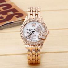 Hot selling luxury Gold Stainless Steel fashion branded watch men women ladies Janpan Quartz Movement Wrist Watch Clock Reloj