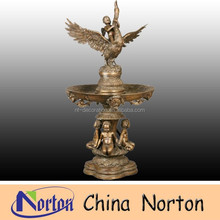 factory supply outdor bronze children and eagle fountain NTBF-L196S