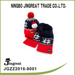 Korean Children High quality 100%cotton hat and scarf lovely style