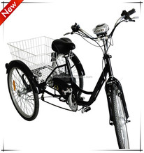 Adult electric trike chopper three wheel motorcycle