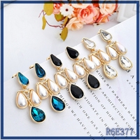 Alibaba Spain 2016 new arrival latest cute girls pressed gold jhumka earrings with pearl