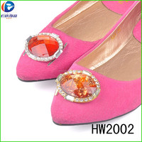 HW2002 The cheap lady shoes flower buckles decorated buckles Turkey