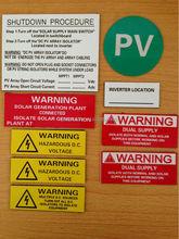 Western Australia abs pv label kits UV resistance