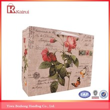 Wholesale shopping bags Euro vintage butterfly stamp design personalized gift bags