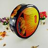 Custom design big round tin box for cookie