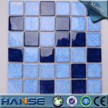 HCF151 round blue glass swimming pool religious mosaic tile