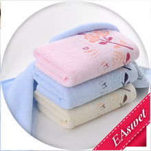 100% cotton high quality flower jacquard washing face towel on sale