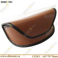 Soft case pure color for eyeglasses leather eye glasses case