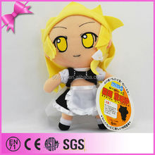 Beautiful stuffed cartoon girl with yellow hat and cute skirt for sell