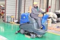 Large driving type sweeping machine auto electric floor scrubber dryer
