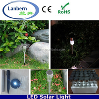 2016 outdoor decoration stainless steel standing bollard garden led lamp with solar panel JD-101A